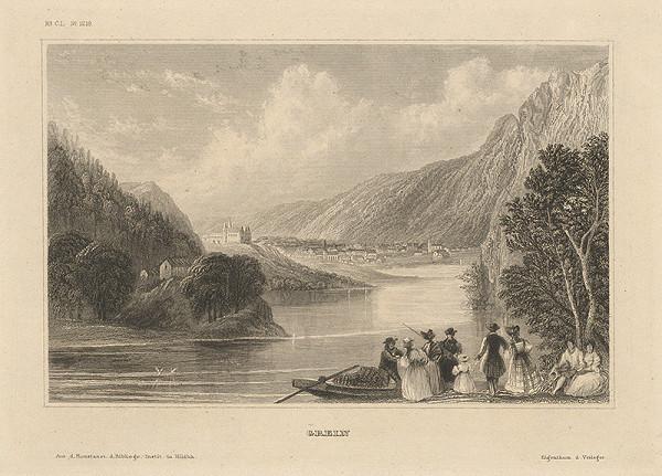 Stredoeurópsky grafik z 19. storočia - Mesto Grein