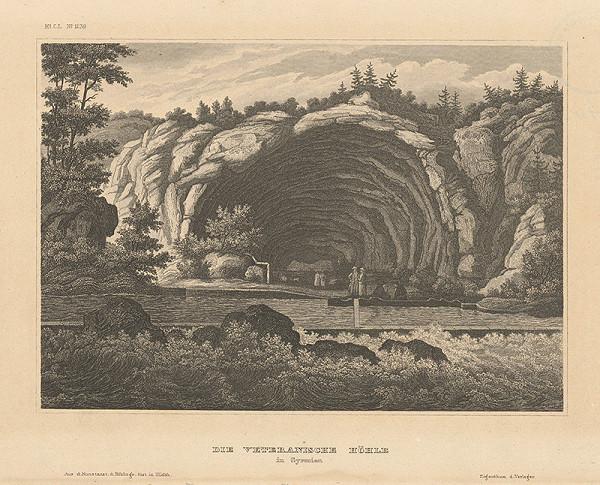 Stredoeurópsky grafik z 19. storočia - Veteránska jaskyňa v Sedmohradsku