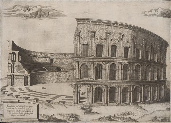Antonio Lafréry - Pohľad na zrúcaniny arény vo Verone