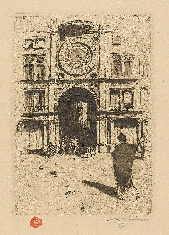 František Tavík Šimon – Pohľad na časť Benátok