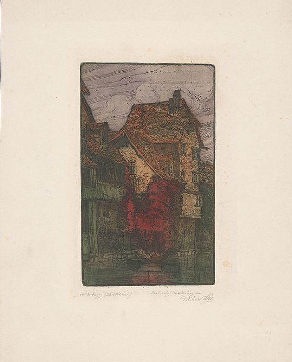 Richard Lux – Časť ulice v Norimberku