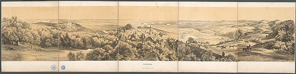 Stredoeurópsky maliar z 19. storočia - Pohľad na Kahlenberger pri Viedni
