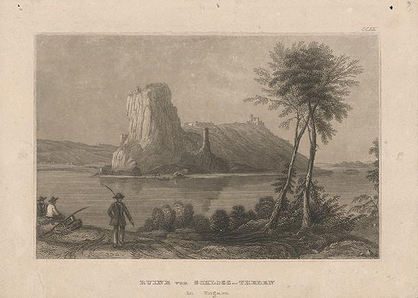 Slovenský maliar z 19. storočia - Zrúcaniny hradu Devín