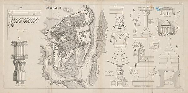 Stredoeurópsky maliar z 19. storočia - Situačný plán Jeruzalema