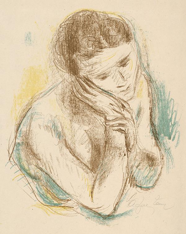 Stredoeurópsky grafik z 1. polovice 20. storočia - Portrét ženy