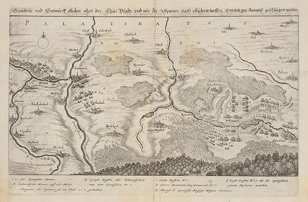 Stredoeurópsky maliar z 18. storočia - Pohľad na mestá Thurpfalzu, z ktorých boli Španieli vyhnaní