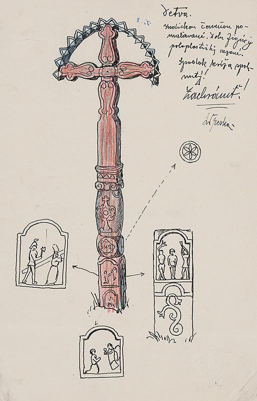 Ladislav Treskoň - Náhrobný kríž
