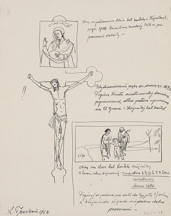 Ladislav Treskoň – Skice oltárnych obrazov v kostole v Hájnikoch