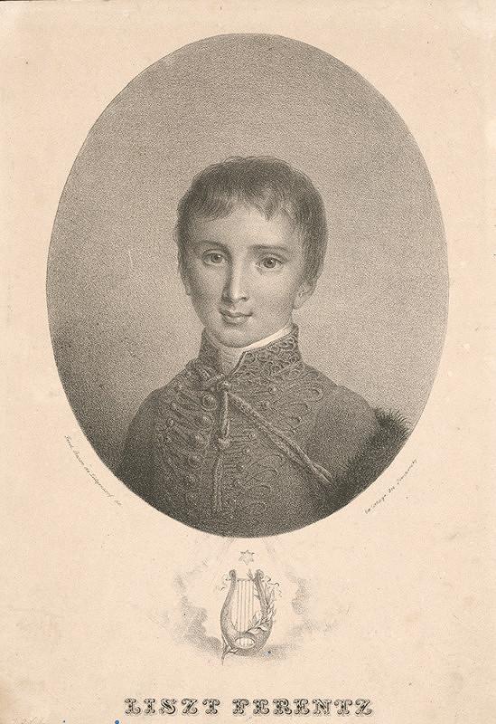 Josef Trentsensky, Ferdinand Karl Theodor Lütgendorff – Portrét mladého Franza Liszta (1811-1886)