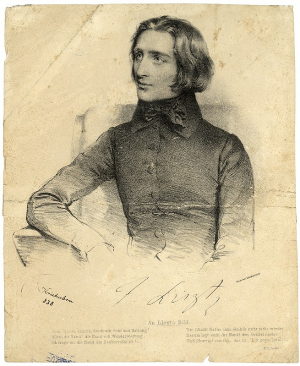 Joseph Kriehuber, Johann Höfelich – Portrét Franza Liszta