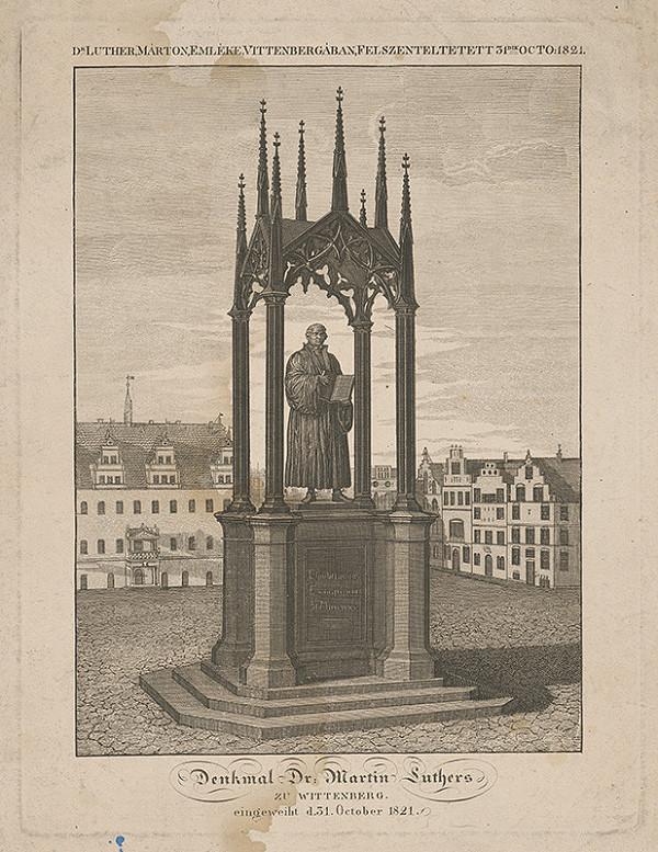 Nemecký maliar - Pomník Martina Luthera