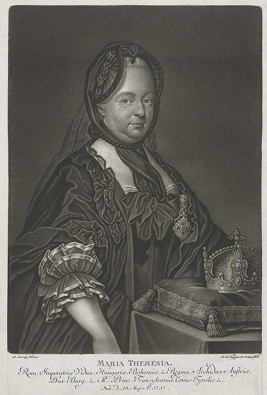 Johann Simon Negges, Joseph Ducreux - Portrét Márie Terézie