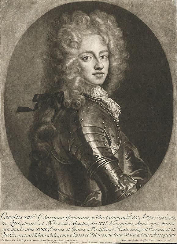 David von Krafft – Portrét Karola XII., švédskeho kráľa