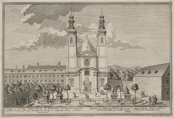 Georg Daniel Heumann, Salomon Kleiner – Kostol a kláštor rádu Servitov vo Viedni