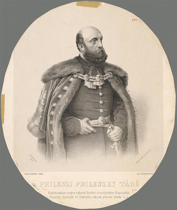 Adolf Dauthage - Portrét Tadea Prileszkého
