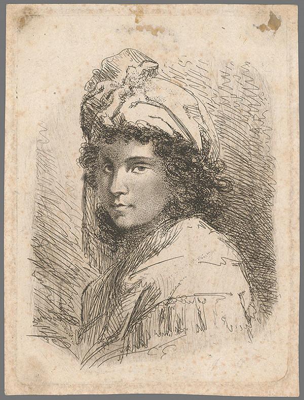 Stredoeurópsky maliar z 19. storočia - Portrét devy