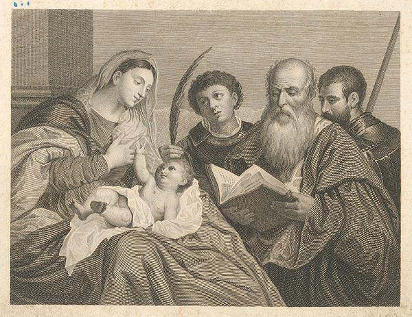 Stredoeurópsky maliar z 19. storočia – Madona s dieťaťom, donátorom, sv. Štefanom a sv. Bartolomejom