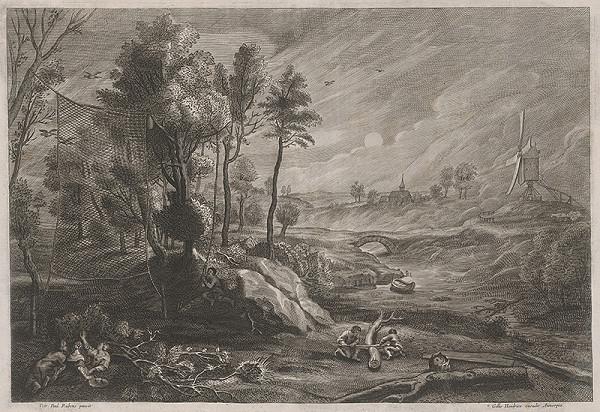 Peter Paul Rubens, Gillis Hendricx – Krajina s chytačmi vtákov