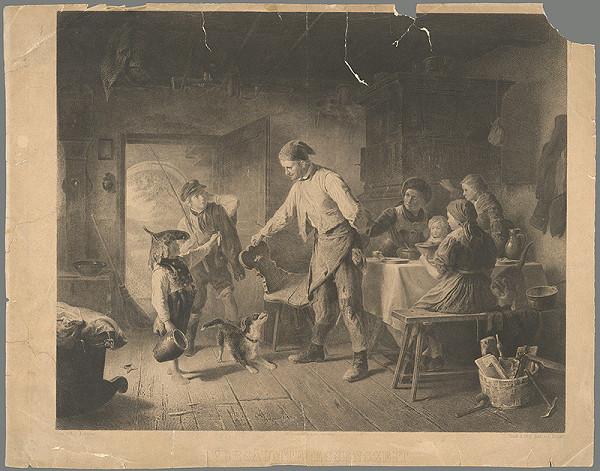 Nemecký maliar z 19. storočia – Zameškaný čas na jedlo