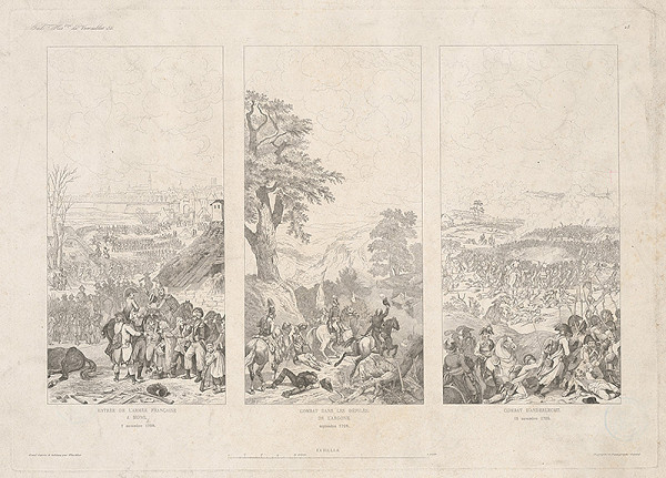 Francúzsky maliar z 18. storočia – Trojobraz - Bojové scény
