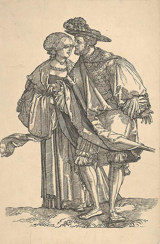 Nemecký maliar z 19. storočia – Muž a žena