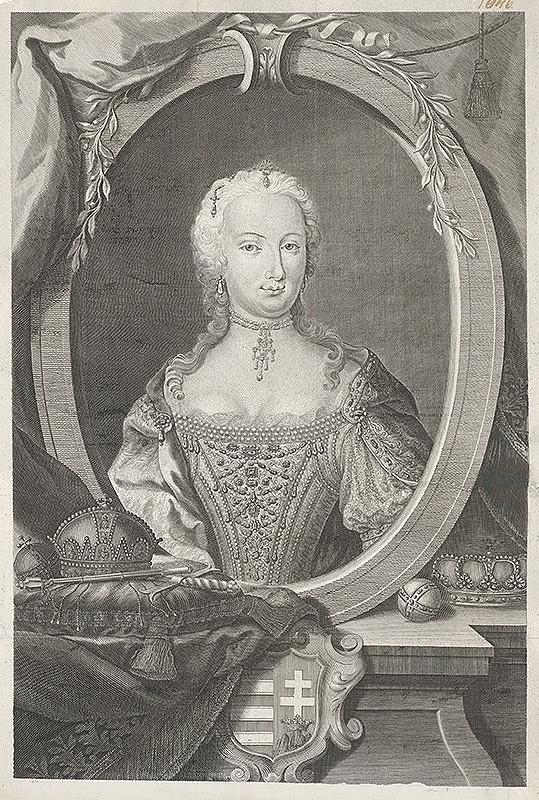 Franz Leopold Schmitner – Mária Terézia ako uhorská kráľovná