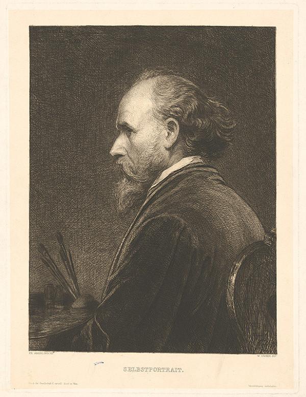 Nemecký maliar z 19. storočia - Portrét maliara