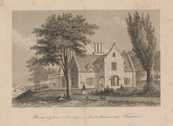 Stredoeurópsky maliar z 19. storočia - Letný dom Irvingsa Washingtona na Hudsone
