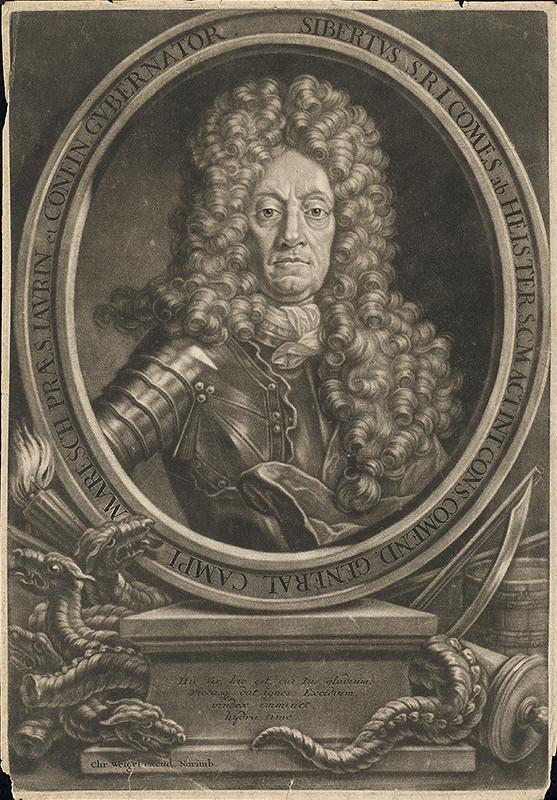Christoph Weigel st. – Portrét generála Heistera