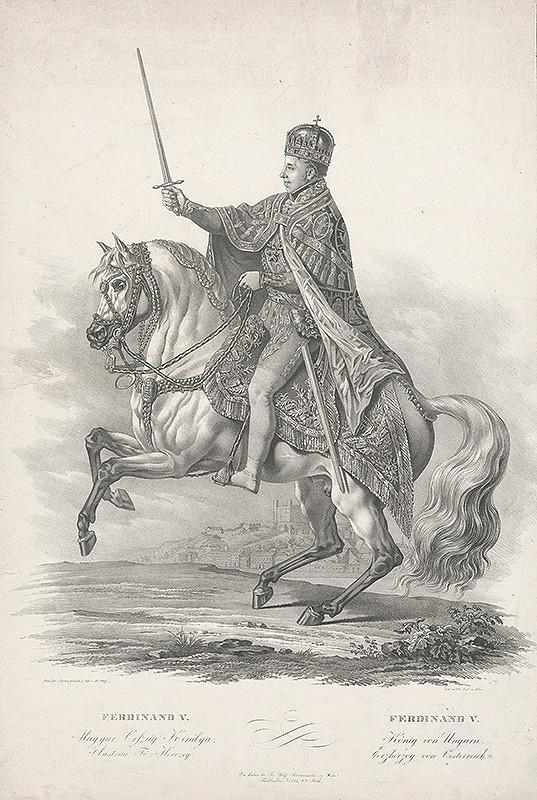 Franz Wolf – Korunovačný jazdecký portrét Ferdinanda V.