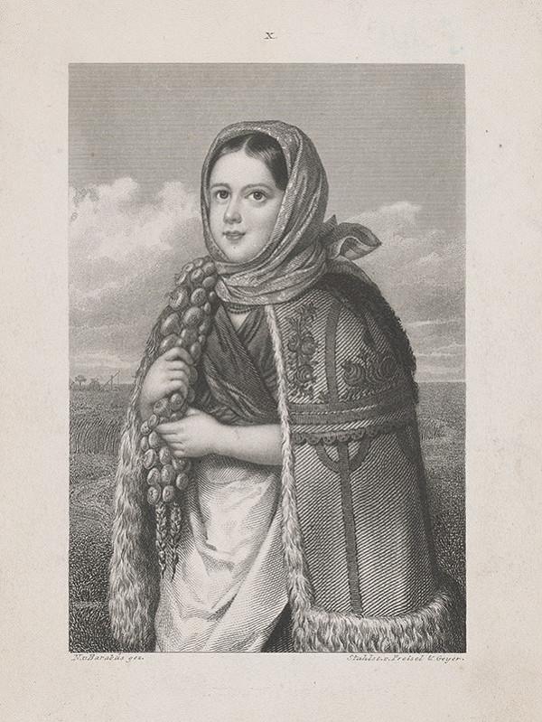 Maďarský maliar z 19. storočia – Dolnouhorské dievča