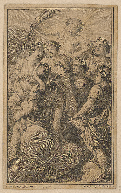Charles-Nicolas Cochin ml., Norbert de Launay - Velebenie francúzskych dramaturgov