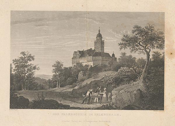 Rakúsky maliar z 19. storočia - Hrad Falkenstein