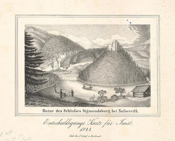 Nemecký maliar z 19. storočia – Zrúcanina hradu Sigmundsburg