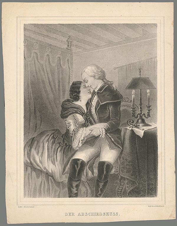 Stredoeurópsky maliar z 19. storočia - Bozk na rozlúčenie