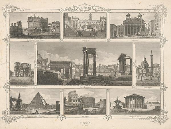 Taliansky maliar z 19. storočia – Pohľady z Ríma