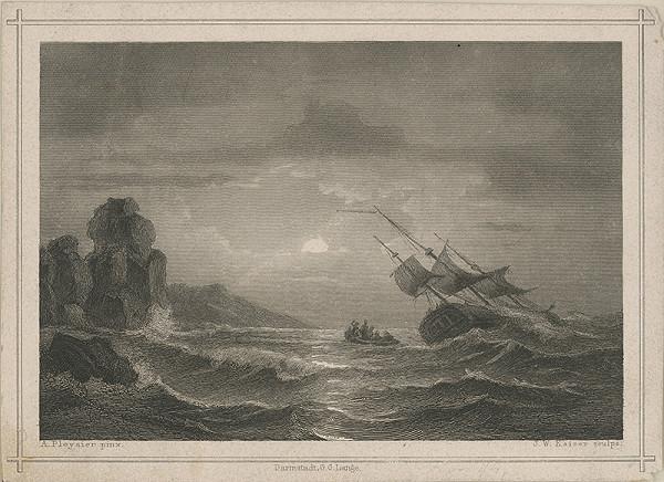 Stredoeurópsky maliar z 19. storočia - Búrka na mori