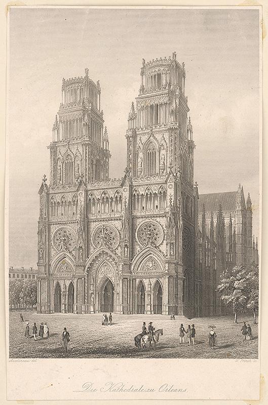 Stredoeurópsky maliar z 19. storočia – Katedrála v Orleans, okolo 1850