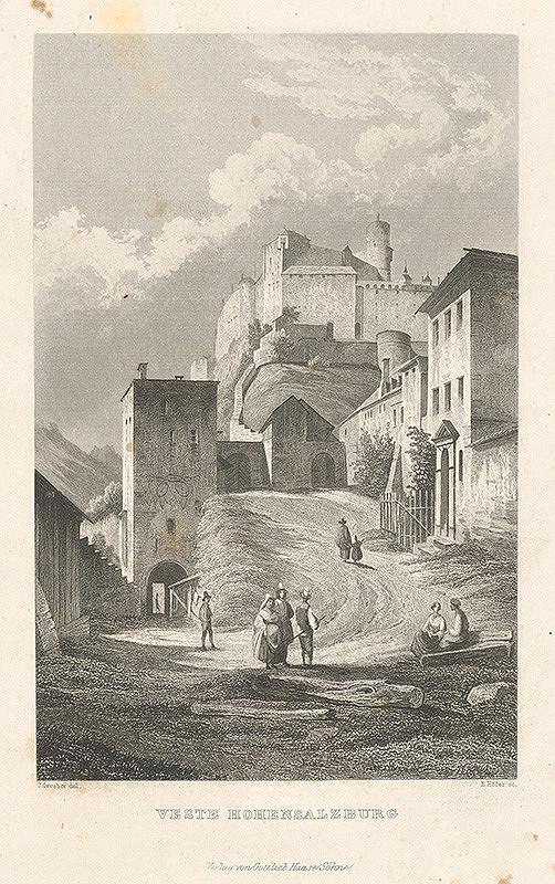 Nemecký maliar z 19. storočia – Hrad Hohensallzburg