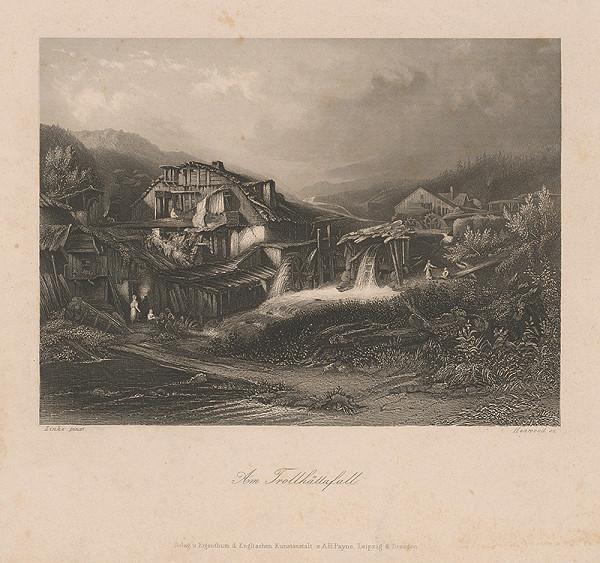 Stredoeurópsky maliar z 19. storočia – Vodopád Trollhätt
