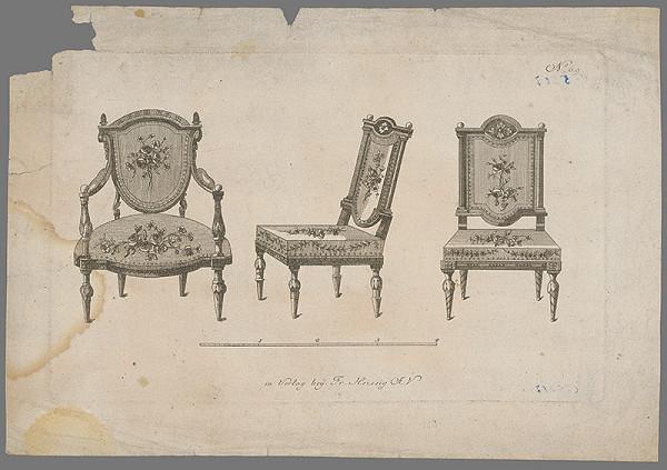 Stredoeurópsky grafik zo začiatku 19. storočia - Dekoratívny nábytok