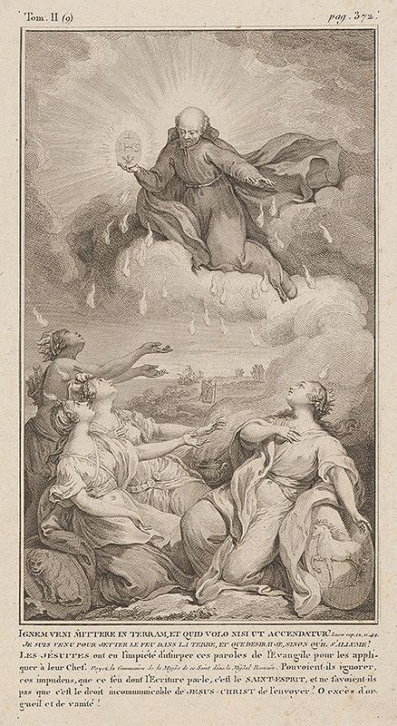 Taliansky maliar z 18. storočia - Jezuita v oblakoch