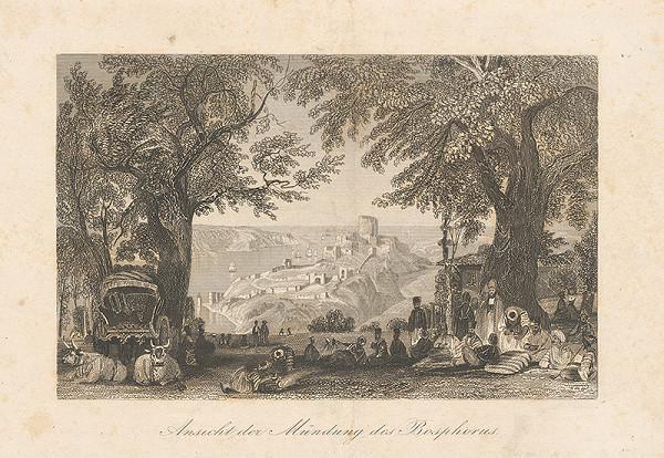 Nemecký maliar z 19. storočia - Pohľad na Bosphorus