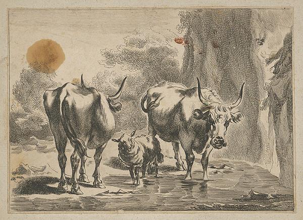 Stredoeurópsky maliar z 18. storočia – Napájanie kráv