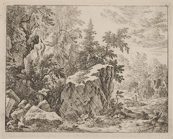 Stredoeurópsky maliar z prelomu 17. - 18. storočia - Skalnatá krajina