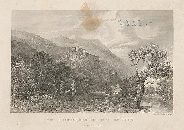 Nemecký maliar z 19. storočia - Zrúcaniny hradu Sv.Jána