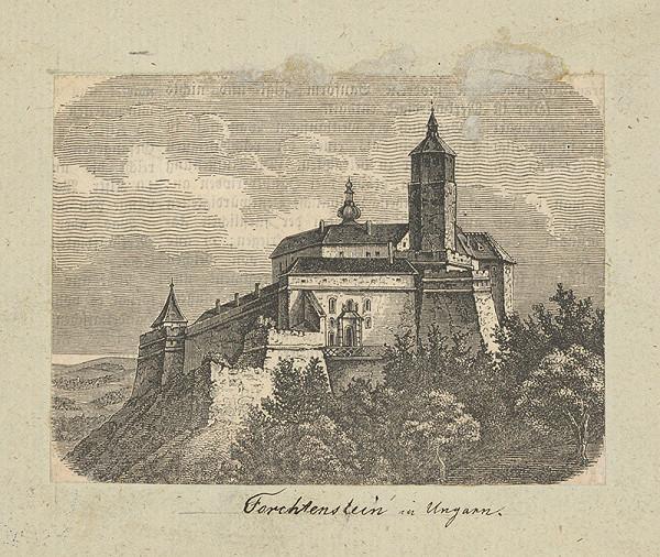 Rakúsky maliar z 19. storočia – Hrad Forchtenstein