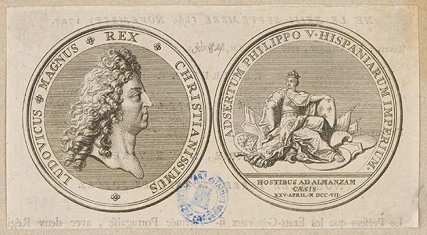 Stredoeurópsky maliar z 18. storočia – Pamätná medaila Ľudovíta XIV.