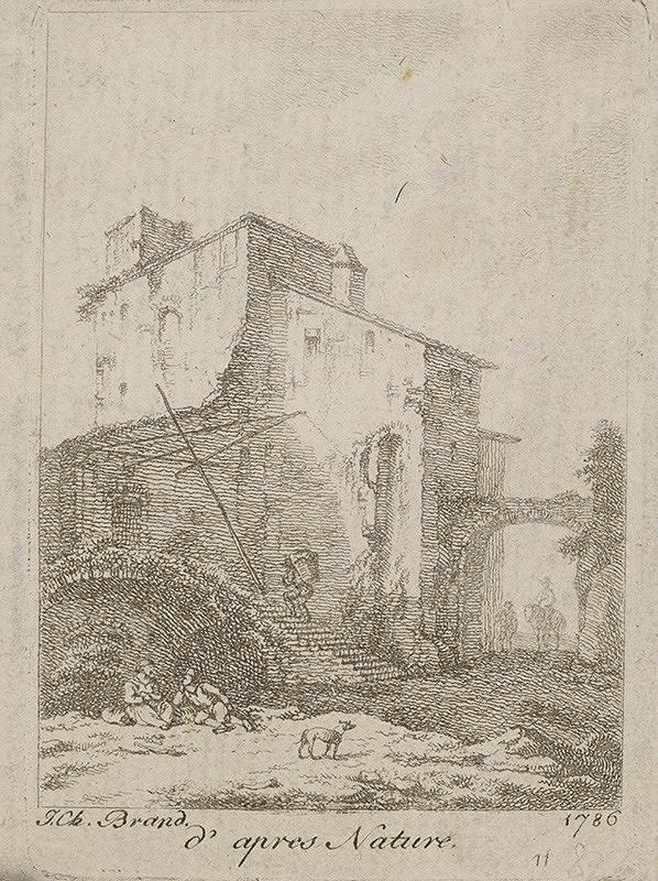 Johann Christian Brand – Zrúcanina hradu
