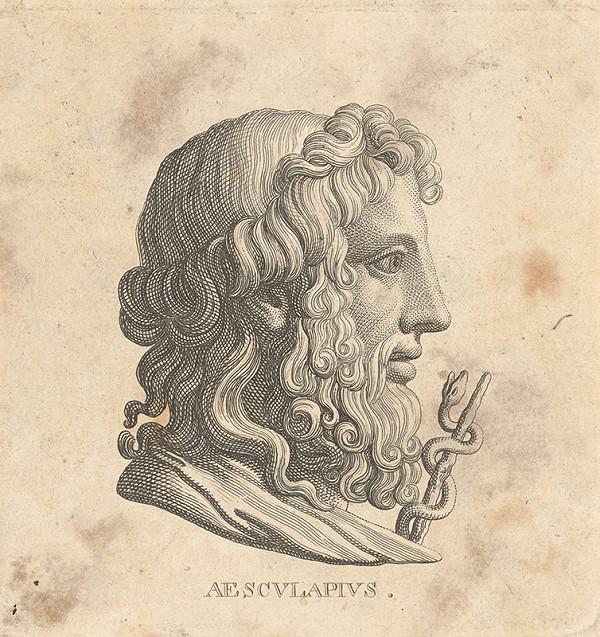 Taliansky maliar z 19. storočia - Aesculapius